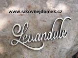 2D výřez nápis Levandule ozd. v.7x18cm