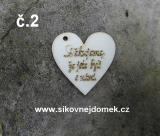 2D výřez srdce Děkujeme... vel. 3,5x3,5cm -č.2
