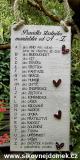 Cedulka Pravidla šťastného manželství. 24x11cm- -hnědo-bílá
