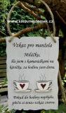 Cedulka Vzkaz pro manžela-20x14cm-hnědo bílá patina