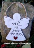 Anděl - maminka - 20x20cm