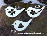 2D výřez ptáček L -v.7,5x4cm -číslo 6