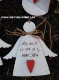 3D anděl Můj anděl č.2...  v.14x17cm