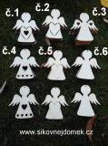 2D výřez anděl č.6 - v. 8,1x7,8cm