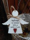 3D anděl Nejkrásnější na mámině  v.14x17cm