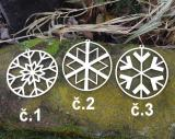 2D výřez ozdoba vločka č.3-pr. 6cm