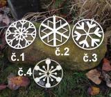 2D výřez ozdoba vločka č.3-pr.cca  12,5cm