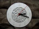 3D hodiny kulaté s kytičkovým vzorem pr. 25cm