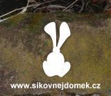 2D výřez zajíc č.1 - v.9x4,6cm