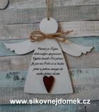 3D anděl Vesmír je ... - v.18x21,5cm