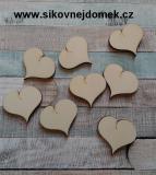 2D výřez srdce prdelka v.3,7x4cm-cena za ks