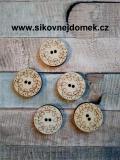 2D výřez - knoflíček kulatý ornament-pr.2,2cm-cena za ks