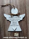 2D anděl n.t.  Modlitba -17x16cm