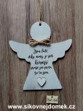 2D anděl n.t.  Jsou lidé -17x16cm