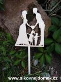 Zápich svatební nevěsta,ženich,chlapeček,holčička-síla mat.0,4cm