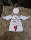 3D anděl Ty nejkrásnější- v.14x17cm