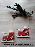 Brusličky vánoční červené- vločka č.2