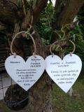 Svatební srdce dekor 18x18cm poděkování