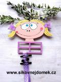Sponkovník holčička č.1 - dekor