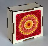 Dřevěná krabička s mandalou odvahy