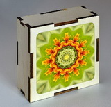 Dřevěná krabička s mandalou radostné úsilí