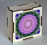 Dřevěná krabička s mandalou soucitu
