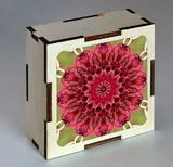 Dřevěná krabička s mandalou sounáležitosti