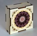 Dřevěná krabička s mandalou pro upřímnost