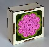 Dřevěná krabička s mandalou vděčnosti