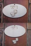 Cedulka WC+výřez 14x8cm