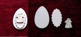 3D zápich na špejli vejce+domeček -3ks