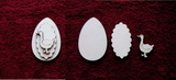 3D zápich na špejli vejce+husa -3ks