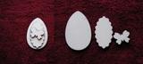 3D zápich na špejli vejce+motýl -3ks