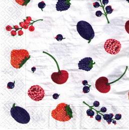 OZ 016 - uborusek 33x33 - ovoce mix na bílém - zvětšit obrázek