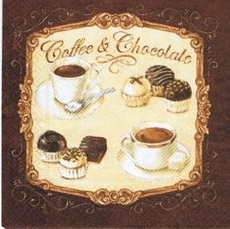 KM 060 - ubrousek 33x33 - coffee a chocolate - zvětšit obrázek