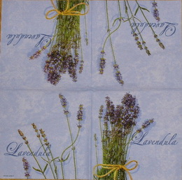 BY 041 AMBIENTE - ubrousek 33x33 - lavendula na fialovém - zvětšit obrázek