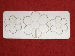 Zápich na špejli  oboustranný - kytička - zvětšit obrázek