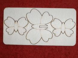 Zápich na špejli  oboustranný - motýl - zvětšit obrázek