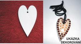 2D výřez - polotovar na šperk SRDCE - 6x3,5cm - zvětšit obrázek