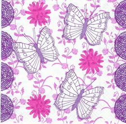 OS 117 - ubrousek 33x33 - fial-růž motýl - zvětšit obrázek