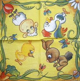DE 289 Safuri - ubrousek 33x33 - kuřátko - zvětšit obrázek