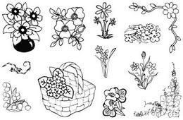 Razítka gelová květiny vel.10x15cm - zvětšit obrázek