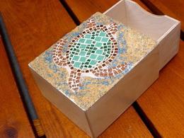 Mozaiková vysouvací krabička ŽELVA - zvětšit obrázek