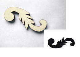 Razítko překližka ornament vlnka-v.2,3x6,2cm - zvětšit obrázek