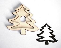 Razítko překližka stromek-v.4,8x4,9cm - zvětšit obrázek