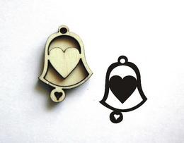 Razítko zvonek srdíčko plné-v.4x2,9cm - zvětšit obrázek