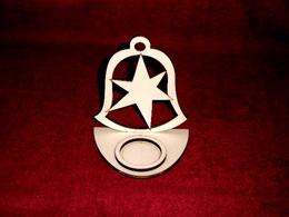 Stojánek na čajovou svíčku zvon+hvězda - zvětšit obrázek