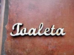 2D výřez nápis Toaleta - cca v.3x13cm - zvětšit obrázek