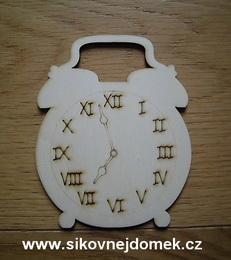 2D výřez budík římská čísla k sestavě Momenty v. 12,5x10cm - zvětšit obrázek