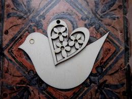 3D výřez ptáček - v. 6,6x9,2cm - zvětšit obrázek